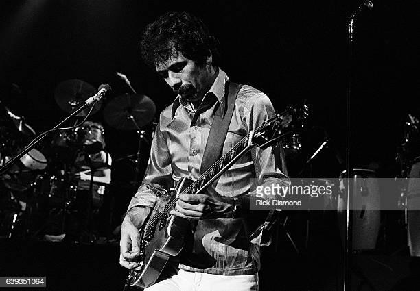 Carlos Santana of Rock Group Santana performs during opening week of The Capri Theater in Buckhead/Atlanta Georgia February 19 1979