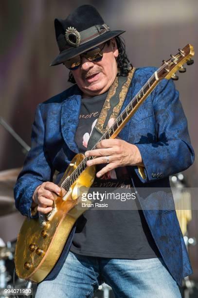 Carlos Santana of Santana performs live at Barclaycard present British Summer Time Hyde Park at Hyde Park on July 8 2018 in London England