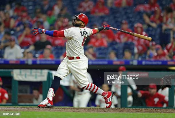 Carlos Santana of the Philadelphia Phillies during a game against the Baltimore Orioles at Citizens Bank Park on July 3 2018 in Philadelphia...