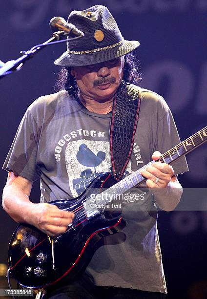 Carlos Santana performs at day one of the North Sea Jazz Festival at Ahoy on July 12 2013 in Rotterdam Netherlands