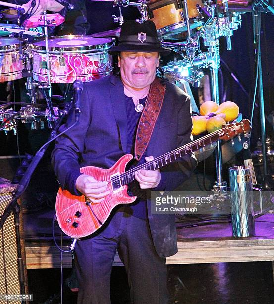 Carlos Santana performs during Univision Radio's Uforia Concert at Webster Hall on May 13 2014 in New York City