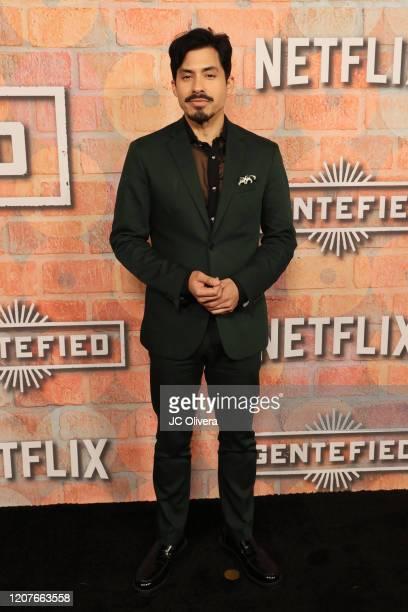 Carlos Santos attends the premiere of Netflix's Gentefied at Plaza de la Raza on February 20 2020 in Los Angeles California