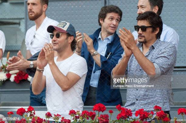 Carlos Santos Diego Martin and Stefan Savic are seen attending the Mutua Madrid Open tennis tournament at the Caja Magica on May 10 2018 in Madrid...