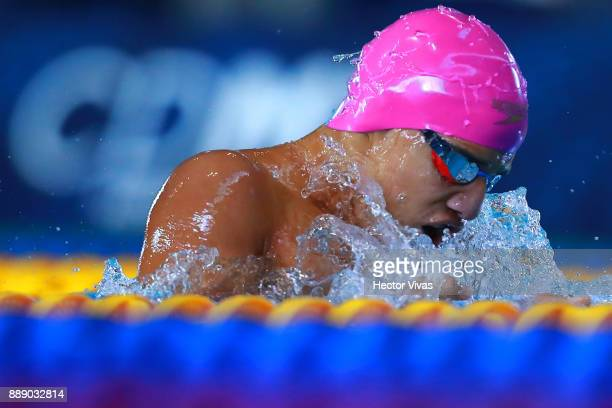 Carlos Serrano of Colombia competes in Men's 200 m Individual Medley SM67 during day 6 of the Para Swimming World Championship Mexico City 2017 at...