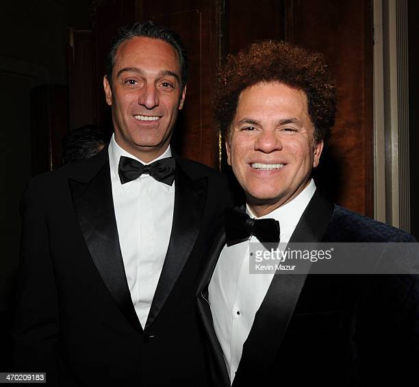 Carlos Slim Domit and Romero Britto attend the Maestro Cares First Annual Gala at Cipriani Wall Street on February 18 2014 in New York City