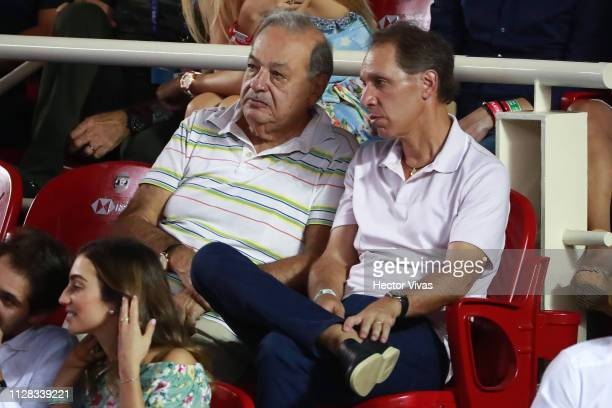 Carlos Slim during the semifinals match between Nick Kyrgios of Australia and John Isner of United States as part of the day 5 of the Telcel Mexican...