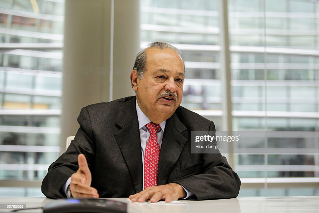 Billionaire & America Movil SAB Chairman Carlos Slim Interview : News Photo