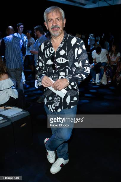 Carlos Sobera attends Juan Vidal fashion show during the Mercedes Benz Fashion Week Autumn/Winter 20192020 on July 07 2019 in Madrid Spain