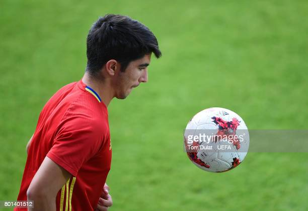 Carlos Soler of Spain during a training session on June 26 2017 in Krakow Poland