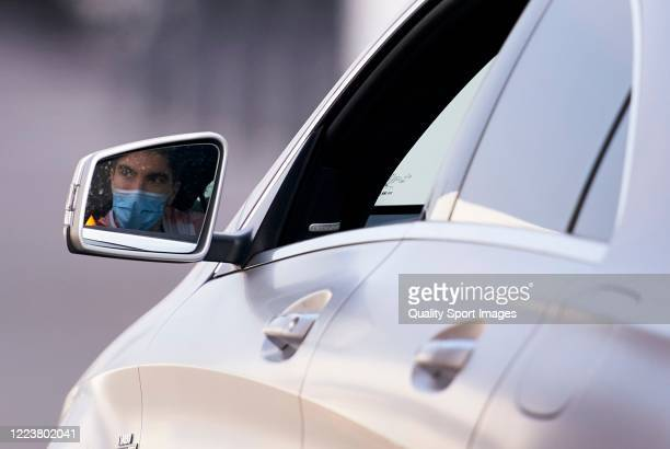 Carlos Soler of Valencia arrives at a training session at Paterna Training Centre on May 09 2020 in Valencia Spain The La Liga clubs are largely back...