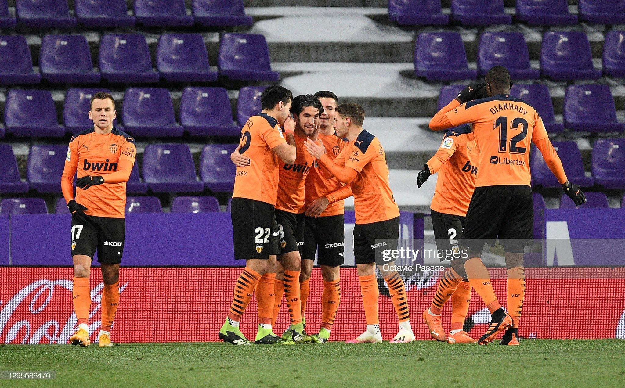 Real Valladolid CF v Valencia CF - La Liga Santander : ニュース写真