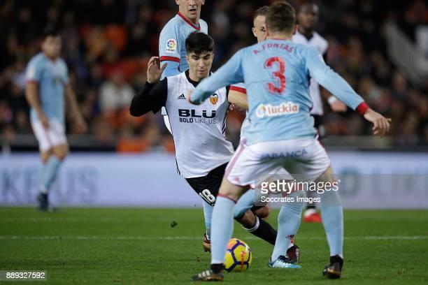 Carlos Soler of Valencia CF during the Spanish Primera Division match between Valencia v Celta de Vigo at the Estadio de Mestalla on December 9 2017...