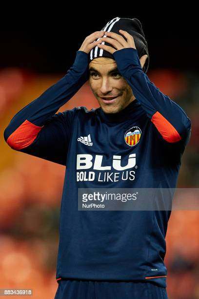 Carlos Soler of Valencia CF smiles prior to the game during the Copa del Rey round of 32 second leg match between Valencia CF and Real Zaragoza at...