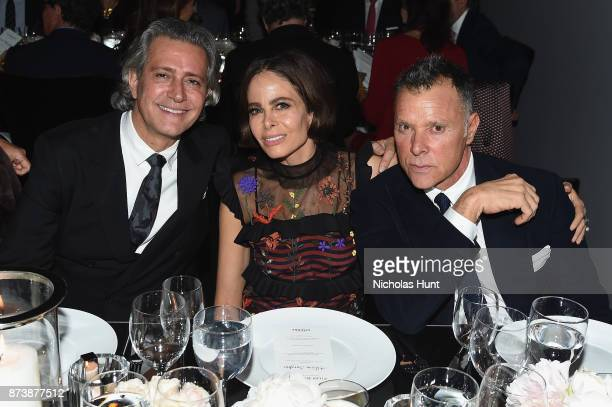 Carlos Souza and Allison Sarofim attend The Museum of Modern Art Film Benefit presented by CHANEL A Tribute to Julianne Moore at MOMA on November 13...