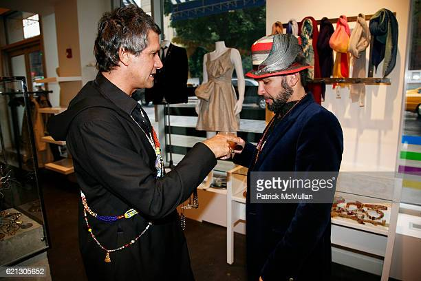 Carlos Souza and Carlos Mota attend SVEDKA presents CARLOS SOUZA's Most Wanted Design Jewelry Collection Hosted by Carlos Mota at BLUE CREAM at Blue...