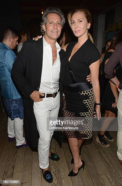 Carlos SOuza and Inga Rubenstein attend Modelinia Fashion Week Dinner at Freemans on September 8 2013 in New York City