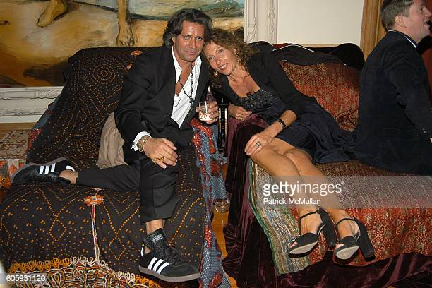Carlos Souza and Jacqueline Schnabel attend MARNI Dinner for Consuelo Castiglioni at The Home of Jacqueline Schnabel on April 29 2006 in New York City