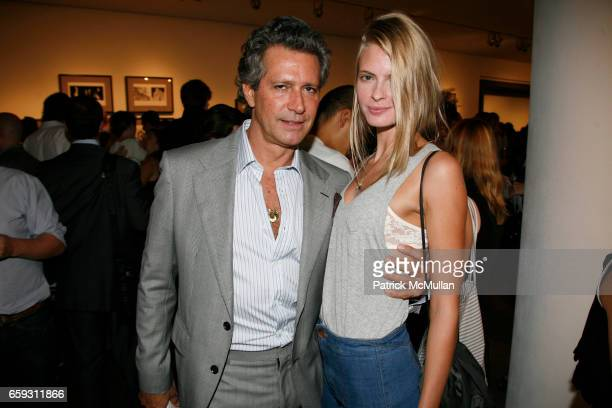 Carlos Souza and Julia Stegner attend SAM HASKINS Fashion Etcetera at Milk Studios Gallery on September 24 2009 in New York City