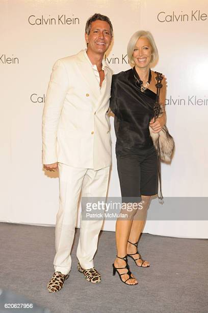 Carlos Souza and Linda Fargo attend CALVIN KLEIN INC Celebrates Milestone 40th Anniversary at the High Line on September 7 2008 in New York City