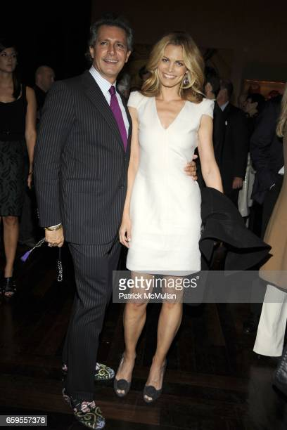 Carlos Souza and Lori Baker attend Gwyneth Paltrow and VBH's Bruce Hoeksema Host Cocktail Party for Valentino The Last Emperor at VBH on October 27...
