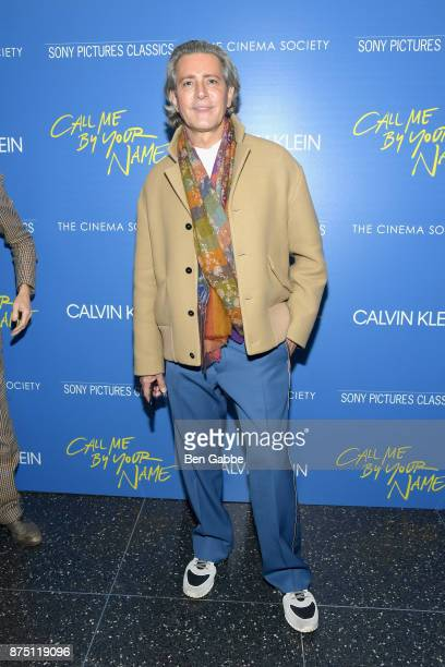 Carlos Souza attends The Cinema Society screening of Sony Pictures Classics' Call Me By Your Name at Museum of Modern Art on November 16 2017 in New...