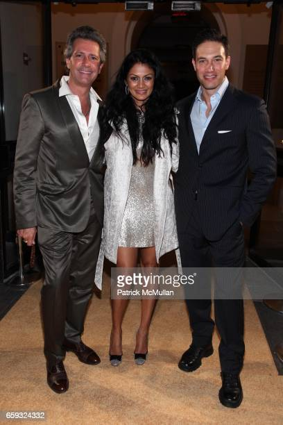 Carlos Souza Donna D'Cruz and Eric Villency attend Unveiling of Simon Peers and Nicholas Godleyís Spider Silk Exhibit hosted by Heather Graham at the...