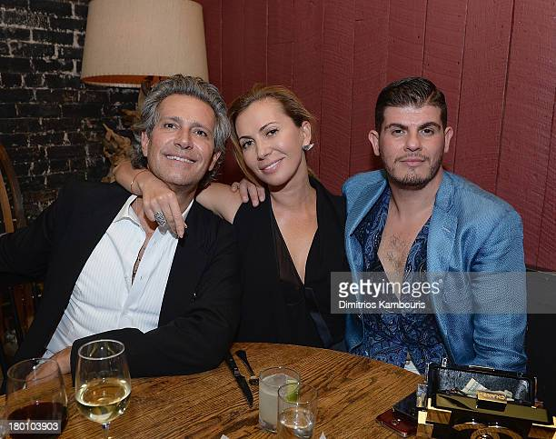 Carlos Souza Inga Rubenstein and Eli Mizrahi attend Modelinia Fashion Week Dinner at Freemans on September 8 2013 in New York City
