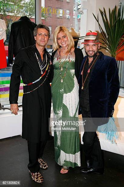 Carlos Souza Kat Pingree and Carlos Mota attend SVEDKA presents CARLOS SOUZA's Most Wanted Design Jewelry Collection Hosted by Carlos Mota at BLUE...