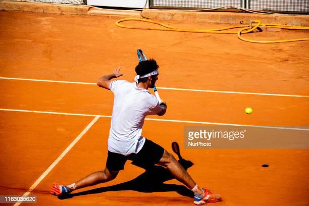 Carlos Taberner during the match between Carlos Taberner and Alejandro Tabilo at the Internazionali di Tennis Citta' dell'Aquila in L'Aquila, Italy,...