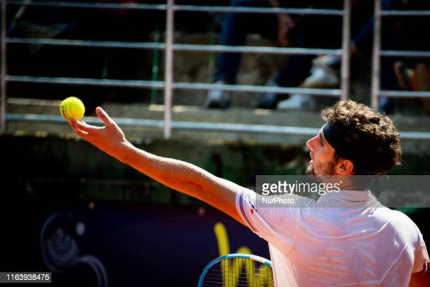 Carlos Taberner during the semi-finals match between Andrea Collarini and Carlos Taberner at the Internazionali di Tennis Citta' dell'Aquila in...