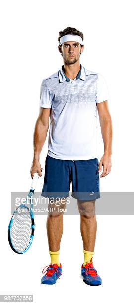 Carlos Taberner of Spain poses for portraits during the Australian Open at Melbourne Park on January 12 2018 in Melbourne Australia