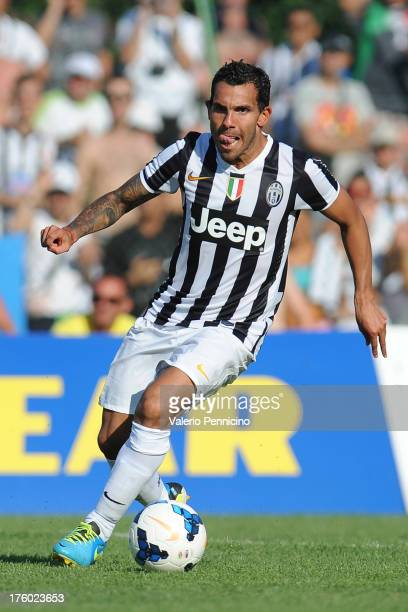 Carlos Tevez of FC Juventus in action during the preseason friendly match between FC Juventus A and FC Juventus B on August 11 2013 in Villar Perosa...