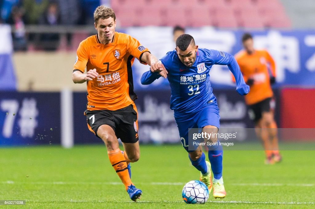 AFC Champions League 2017 - Shanghai Shenhua FC (CHN) vs Brisbane Roar (AUS) : News Photo