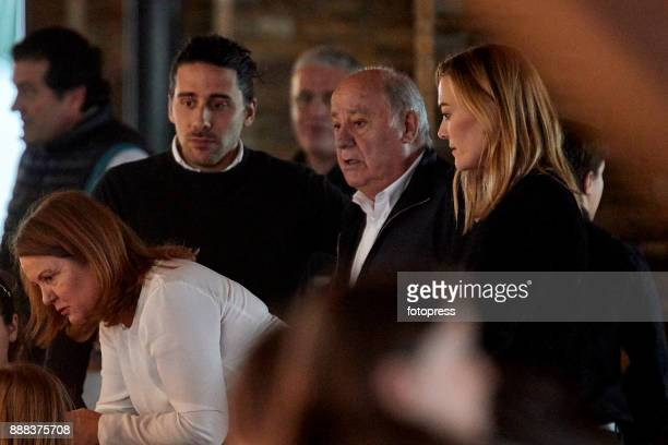 Carlos Torretta Amancio Ortega and Marta Ortega attend during CSI Casas Novas Horse Jumping Competition on December 8 2017 in A Coruna Spain