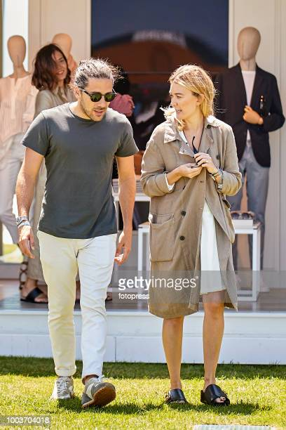 Carlos Torretta and Marta Ortega attend during CSI Casas Novas Horse Jumping Competition on July 22 2018 in A Coruna Spain