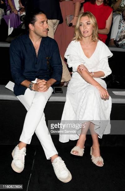 Carlos Torretta and Marta Ortega attend Roberto Torretta fashion show during the Mercedes Benz Fashion Week Spring/Summer 2020 on July 08, 2019 in...