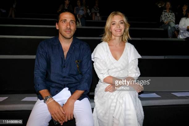 Carlos Torretta, Marta Ortega in Front Row during the Mercedes Benz Fashion Week Spring/Summer 2020 on July 08, 2019 in Madrid, Spain.