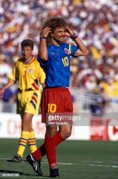 Carlos Valderrama Roumanie / Colombie Coupe du Monde 1994 Photo Alain Gadoffre / Icon Sport