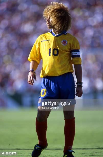 Carlos VALDERRAMA Etats Unis / Colombie Coupe du Monde 1994 Photo Alain Gadoffre / Icon Sport