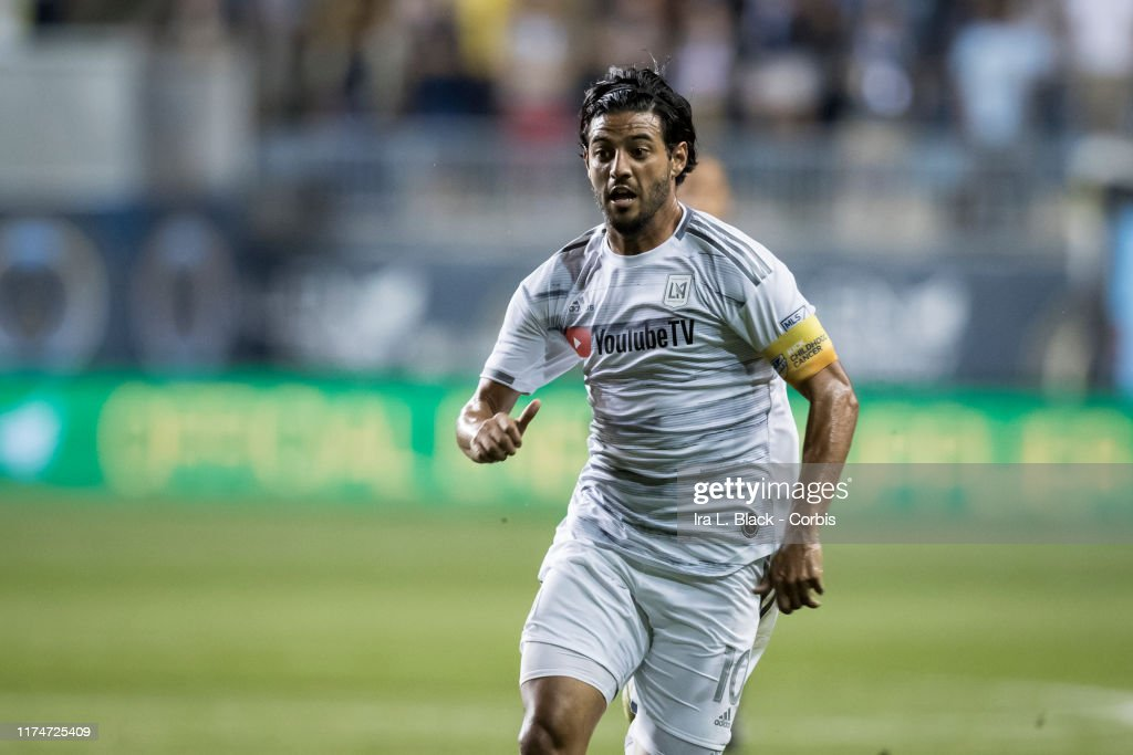 Carlos Vela Of Lafc Runs Across The Pitch During The 1st