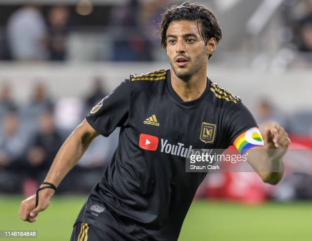 Carlos Vela of Los Angeles FC during Los Angeles FC's MLS match against Montreal Impact at the Banc of California Stadium on May 24 2019 in Los...