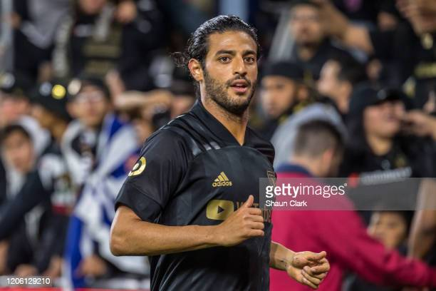 Carlos Vela of Los Angeles FC during Los Angeles FC's MLS match against Philadelphia Union at the Banc of California Stadium on March 8 2020 in Los...