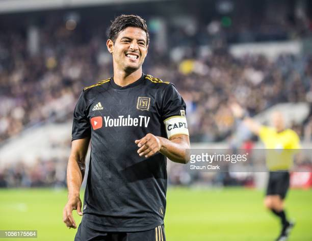 Carlos Vela of Los Angeles FC during Los Angeles FC's MLS Western Conference Knockout match against Real Salt Lake at the Banc of California Stadium...