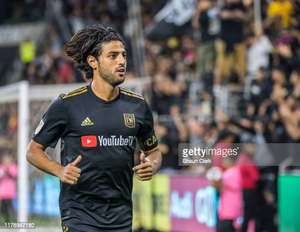 Carlos Vela of Los Angeles FC during the MLS Western Conference Final between Los Angeles FC and Seattle Sounders at the Banc of California Stadium...