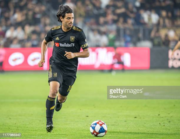 Carlos Vela of Los Angeles FC during the MLS Western Conference Semifinal between Los Angeles FC and Los Angeles Galaxy at the Banc of California...