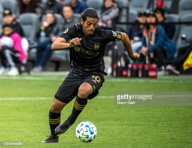 Carlos Vela of Los Angeles FC in action during the MLS match against Inter Miami at the Banc of California Stadium on March 1 2020 in Los Angeles...