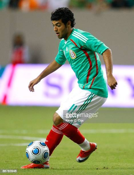 Carlos Vela of Mexico against Venezuela during their international friendly match at Georgia Dome on June 24 2009 in Atlanta Georgia