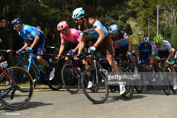 Carlos Verona of Spain and Movistar Team / Ben Gastauer of Luxembourg and Team AG2R La Mondiale / Tanel Kangert of Estonia and Team EF Education...
