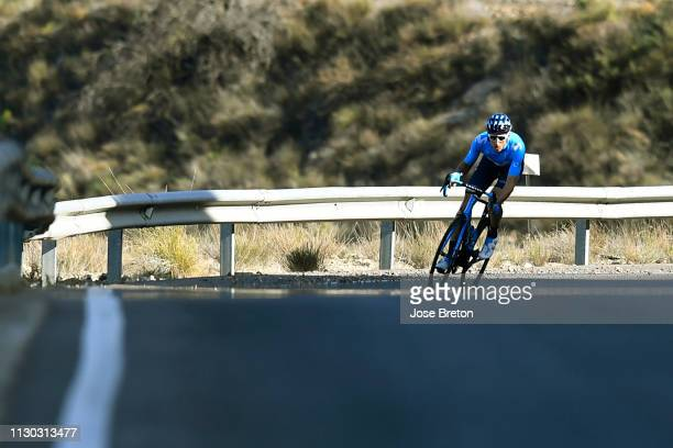 Carlos Verona of Spain and Movistar Team / during the 32nd Clásica de Almería 2019 a 1925km race from Almería to Roquetas de Mar / CA /...