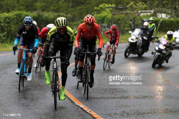 Carlos Verona of Spain and Movistar Team / Tsgabu Grmay of Ethiopia and Team Mitchelton Scott / Alessandro De Marchi of Italy and CCC Team / during...